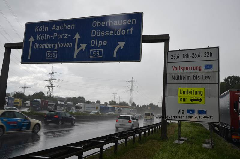 Autobahnsperre A3